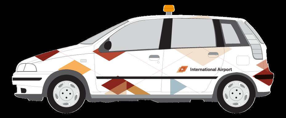 Grafisch patroon voor print op Airport Control Car