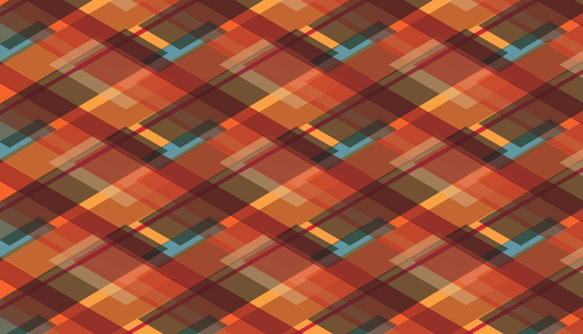 Wandgrafiek openbare ruimte ruit patroon full colour