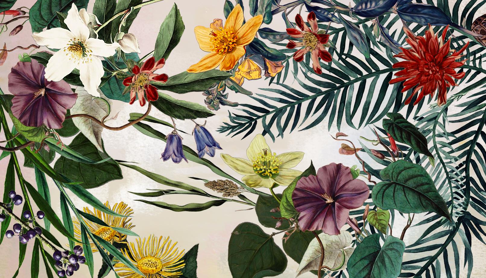 Floraal bloemen dessin is onderdeel van de huisstijl van Studio Ernst