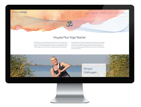 Website voor Soraya Yoga